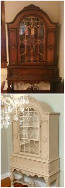 before after china cabinet painted w annie sloans chalk paint