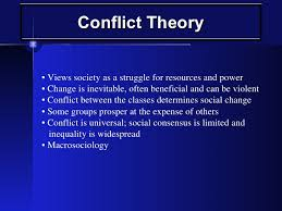 related to sociology  conflict theory