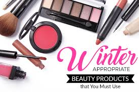 winter makeup and cosmetics
