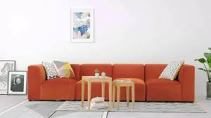 Juno Modulares Sofa Samt In Glutorange Madecom