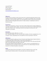 Sample Truck Driver Resume Best Of Awesome Truck Driver Resume