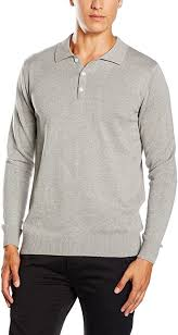 Paul James <b>Knitwear Mens 100</b>% <b>Cotton</b> Long Sleeve <b>Knitted</b> Polo ...