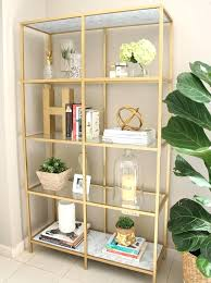 bookcases metal glass bookcase best gold shelves ideas on shelves gold metal gold metal book shelf