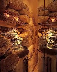 rustic stone bathroom designs. northwest stone mosiac shower bathroom rustic bathroom, design - tsc designs