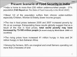 ppt on food security issues and challenges beofe   5 present scenario of food security in
