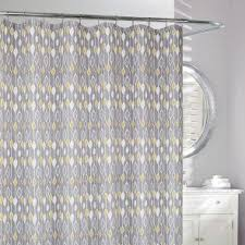 white and yellow shower curtain. w036472 moda at home polyester grey yellow shower curtain.jpg white and curtain n