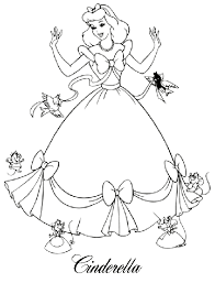 Free Printable Cinderella Coloring Pages For Kids Doodlings