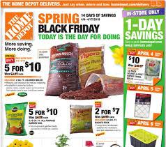 home depot spring black friday hot deals on mulch garden soil more