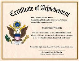 Football Certificate Template Inspiration Free Certificates For Military Advanced Military Certificate