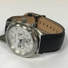 amazing deals on designer mens watches uk delivery page 2 stylish emporio armani chronograph black leather strap mens quartz watch ar5895