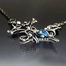 wire wrap necklace true north blue topaz anchor wire wrap necklace wire wrap necklace diy wire wire wrap necklace