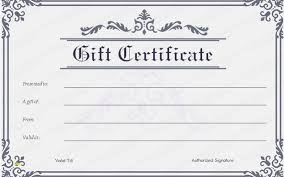 Blank Gift Certificate Template Awesome Blank Gift Certificate