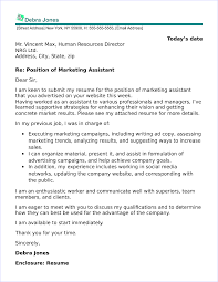 Assistant Marketing Manager Cover Letter Cover Letter For Marketing Assistant Position Magdalene