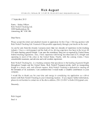 Cv Cover Letter Driver Cover Letter Jobsxs Com