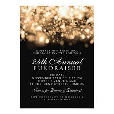 corporate dinner invite formal corporate gala event gold sparkling lights invitation