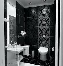 Bathroom Small Bathroom Black And White Tiles Classy Ideas Floor Stunning Black Bathroom Tile Ideas