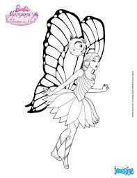 Coloriage De La Jolie Robe Et Les Grande Ailes De Barbie Mariposa