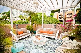 View in gallery Fabulous tropical patio with a touch or Moroccan elegance  and color! by Alexandra Lauren Designs