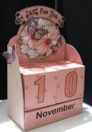 3d Paper Flower Calendar 3d Pretty Floral Perpetual Calendar Desk Set 3d Decoupage