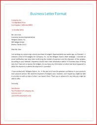 Awesome A Formal Business Letter Format Job Latter