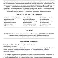 Equity Sales Assistant Resume Clinical Research Associate Resume Example Examples Of Resumes 14