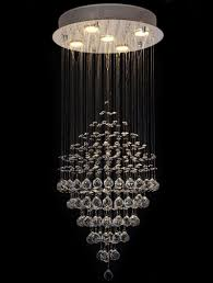 modern clear crystal 5 lights ceiling light rain drop chandelier lighting
