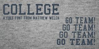 collage fonts free college font dafont com