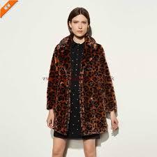 100 origional coach wild beast faux fur coat for women dark multicolor e4881442 designer coats