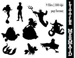 Small Picture The Little Mermaid Silhouettes Disney Princess Ariel Silhouette