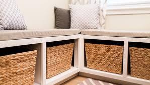 Breakfast Nook Storage Bench Regarding Dining Nook With Storage Bench Plan