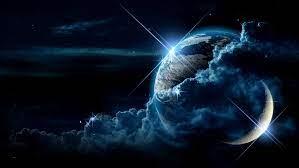 earth and moon wallpaper 4k