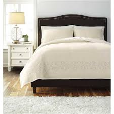 white queen quilt set. Interesting Queen Q470003q Ashley Furniture Stitched  Off White Bedding Comforter On Queen Quilt Set N