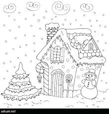 Sketch House In Houses Coloring Page Color Template Truyendichinfo