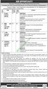 transport planning traffic engineering unit kpk peshawar transport planning traffic engineering unit kpk peshawar apply online jobs application form 2017