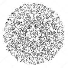 Kleurplaten Voor Volwassenen Mandala Bloemen Archidev Idee Mandala