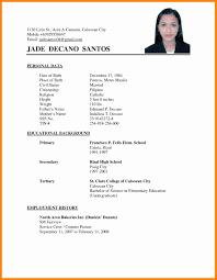 Sample Resume For Employment example of resume application job Akbakatadhinco 53