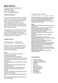 Teacher Resume Sample Magnificent Head Teacher CV Sample Curriculum Vitae Teaching CV Job