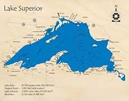 Amazon Com Lake Superior Great Lakes Gl 2d Map 11 X