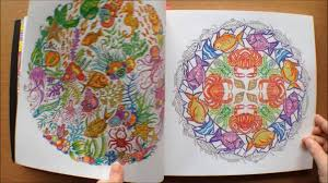 lost ocean by johanna basford colouring book flipthrough with coloured pictures you