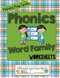 Teaching phonics word families helps beginning readers read simple words. Phonics Prep Word Family Worksheets Kindergarten Kiosk