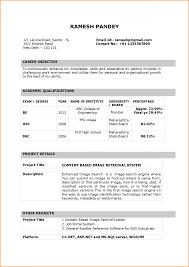 Resume Format Fresher Sample B Tech It For Teacher Peppapp