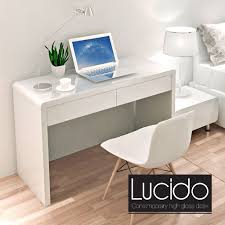 contemporary modern white high gloss dressing table glossy desk