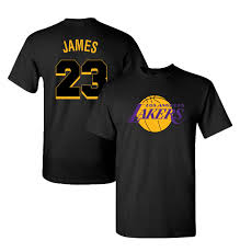 Jersey La James Men's Lakers T-shirt Lebron Logo