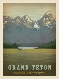 National Parks Posters Anderson Design Group Grand Teton National Park Made Anderson Design Group
