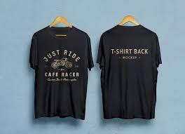 Mock Up Tshirt Free Black White Half Sleeves T Shirt Mockup Psd Front Back
