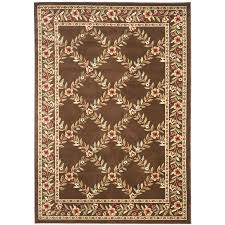 safavieh lyndhurst brown and brown rectangular indoor machine made area rug common 5 x 8 actual 63 in w x 90 in l x 0 33 ft dia