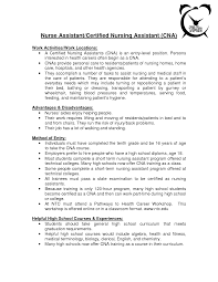 Resume For Cna Job Sample Cna Job Duties Skills And Abilities Resume Assisted L Sevte 22