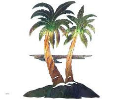 metal palm tree wall art for bathrooms best of