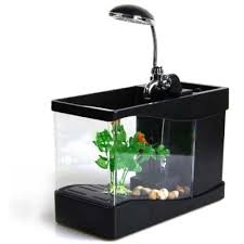 office fish tank. Lileng-918 Stylish 3 In 1 Mini Crystal USB Fish Tank Aquarium Office Desk Lamp M