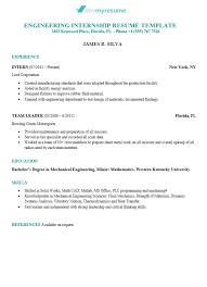 Example Engineer Resumes Engineering Resume Devmyresume Com